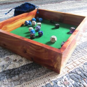 Rustic cedar Dice Tray (Green) - TinkerGryphon.com