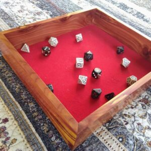 Rustic cedar Dice Tray (Red) - TinkerGryphon.com
