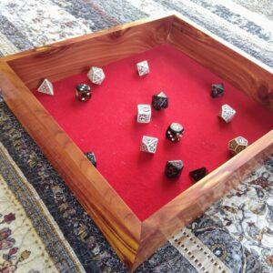 Rustic cedar Dice Tray (Red) - TinkerGryphon.com