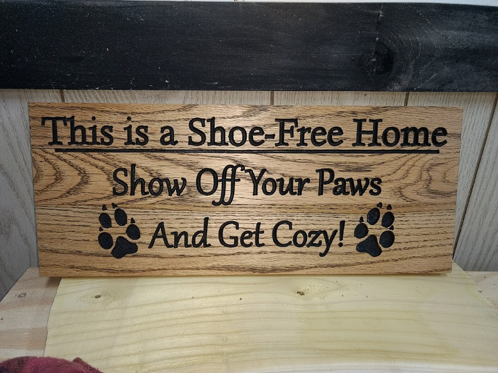Shoe-Free Home Sign - TinkerGryphon.com