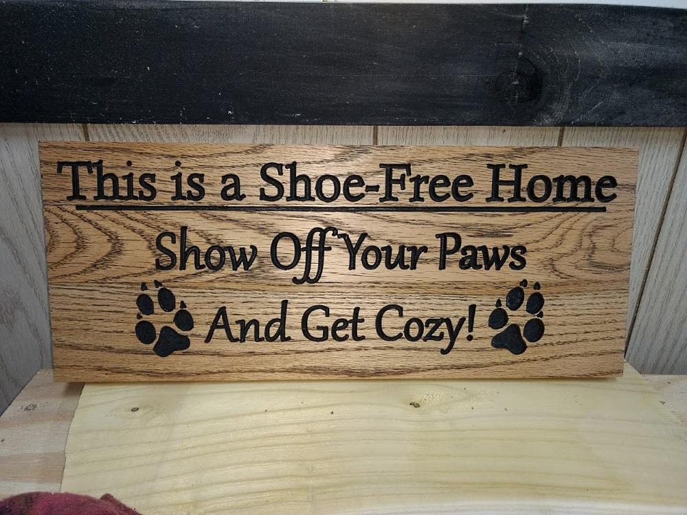 Shoe-Free Home Sign - TinkerGryphon.com