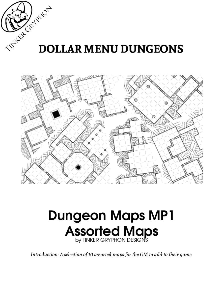 Dungeon Maps MP1 | Tinker Gryphon Designs